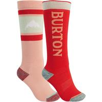 Burton Weekend Midweight Sock 2-Pack - Youth - Pink Dahlia / Hibiscus Pink