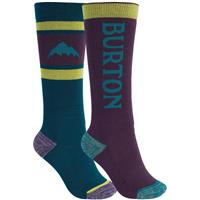 Burton Weekend Midweight Sock 2-Pack - Youth - Dynasty Green / Parachute Purple