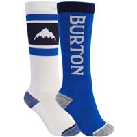 Burton Weekend Midweight Sock 2-Pack - Youth - Stout White / Lapis Blue