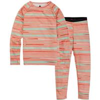 Burton Lightweight Base Layer Set - Youth - Pink Dahlia Scribble