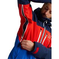 Burton AK GORE‑TEX Swash Jacket - Men's - Dress Blue / Flame Scarlet / Lapis Blue