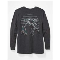 Marmot Cervin Tee LS - Men's - Charcoal Heather