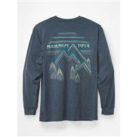 Marmot Cervin Tee LS - Men's - Navy Heather