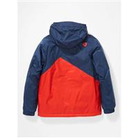 Marmot PreCip Eco Insulated Jacket - Youth - Arctic Navy / Victory Red