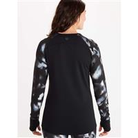 Marmot Baselayer LS Crew - Women's - Black / Solstice
