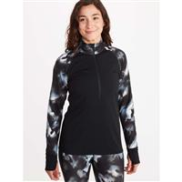 Marmot Baselayer 1/2 Zip - Women's - Black / Solstice