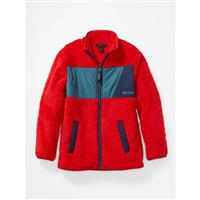 Marmot Roland Fleece - Youth - Victory Red / Stargazer