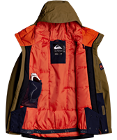 Quiksilver Mission Solid Jacket - Boy's - Military Olive (CQW0)