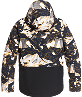 Quiksilver Mission Block Jacket - Boy's - Flame Nature Abstrakt (NKP2)