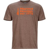 Brown Heather Marmot 74 Tee SS Mens