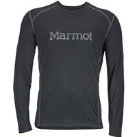 Black / Cinder Marmot Windridge with Graphic LS Mens