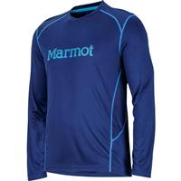 Arctic Navy / Bahama Blue Marmot Windridge with Graphic LS Mens