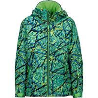 Vibrant Green Shred Marmot Powderhorn Jacket Boys