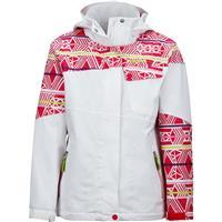 White / Pink Rock Fusion Marmot Moonstruck Jacket Girls