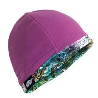 Galactic Dreamer/Orchid Turtle Fur Micro Fur Reversible Beanie Womens