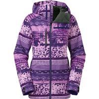 Garnet Purple Mash Up Print The North Face Wanda Insulated Jacket Womens