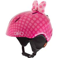 Pink Polka Dot Giro Launch Plus Helmet Youth