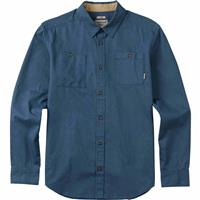 Washed Blue Burton Glade Long Sleeve Woven Shirt Mens