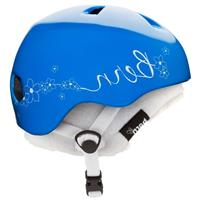Gloss Cyan Flower with White Fleece Bern Nina Helmet Girls