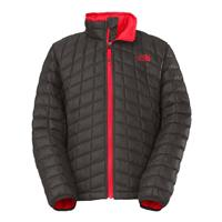 Graphite Grey / Fiery Red The North Face Thermoball Full Zip Jacket Boys