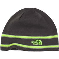 Graphite Grey / Safety Green The North Face TNF Logo Beanie Youth