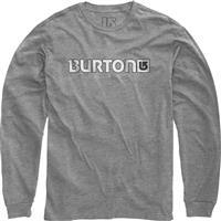 Gray Heather Burton Logo Horizontal LS Shirt Mens