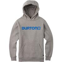 Gray Heather Burton Logo Horizontal Pullover Hoodie Boys