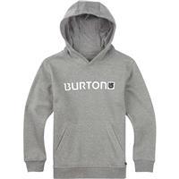 Gray Heather Burton Logo Horizontal Pullover Hoodie Boys