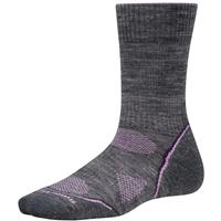 Gray / Purple Smartwool PHD Outdoor Light Crew Socks Womens