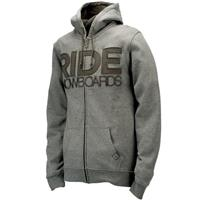 Ride Heathered Full Zip Hoodie - Men's - Gray