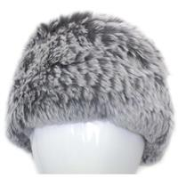 Grey Chinchilla Mitchies Matchings Rabbit Fur Headband Womens