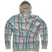 Grey Heather Burton Hollows Premium Fleece Zip Hoodie Mens