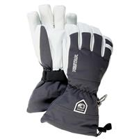 Grey Hestra Army Leather Heli Gloves Mens
