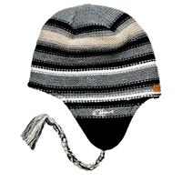 Grey Screamer Chilidog Earflap Beanie Mens