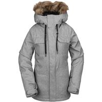 Heather Grey Volcom Shadow Insulated Jacket Womens