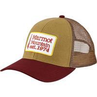 Stone Green Marmot Retro Trucker Hat Mens