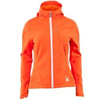 Heat / White Spyder Courmayeur Soft Shell Jacket Womens