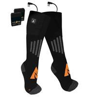 Black / Orange ActionHeat 5V Battery Heated Wool Socks