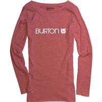 Heather Cardinal Burton Her Logo LS Tee Womens
