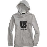 Heather Gray Burton Logo Vertical Pullover Hoodie Boys