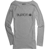 Heather Grey Burton Her Logo LS Tee Womens
