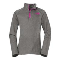 Heather Grey The North Face HW Agave 1/4 Zip Girls