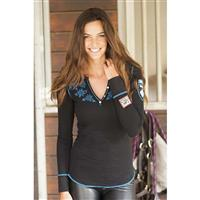 Black Alp N Rock Heidi Henley Womens