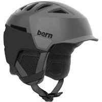 Satin Grey Bern Heist Brim Helmet Mens