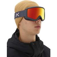 Anon Helix 2.0 Goggle - Rush Frame with Red Solex & Amber Lenses (185311-074)