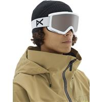 Anon Helix 2.0 Goggle - White Frame with Silver Amber & Amber Lenses (185311-106)
