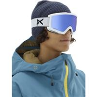 White Frame with Sonar Infrared Blue & Amber Lenses (201781 127) Anon Helix 2.0 Goggle