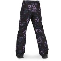 Black Floral Print Volcom Silver Pine Insulated Pant Girls
