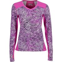 Purple Orchid / Flurry Marmot Lana V Neck Crew Womens