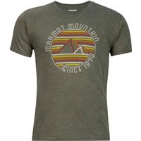 Olive Heather Marmot Purview Tee SS Mens